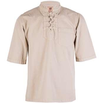 پیراهن مردانه چترفیروزه مدل چهارگره آستین کوتاه کد 3