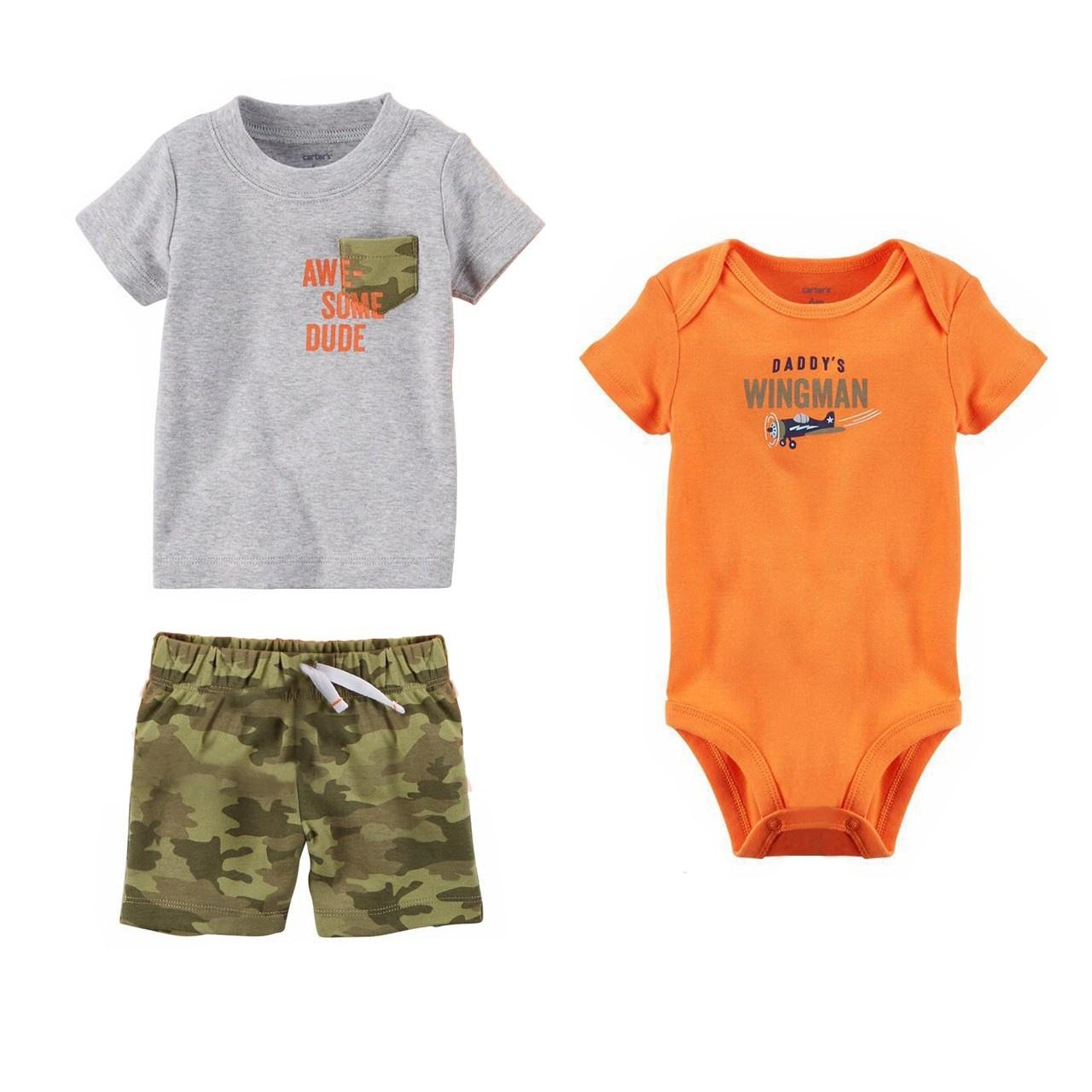 ست 3 تکه لباس نوزادی پسرانه کارترز کد 574