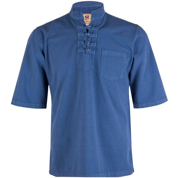 پیراهن مردانه چترفیروزه مدل چهارگره آستین کوتاه کد 5
