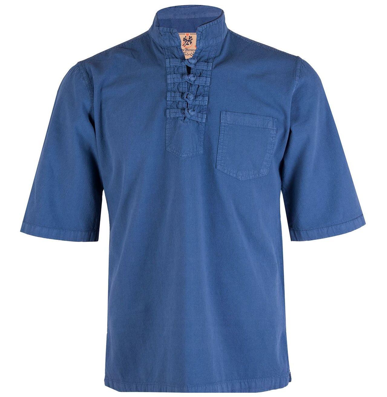 پیراهن مردانه چترفیروزه مدل چهارگره آستین کوتاه کد 5 main 1 1