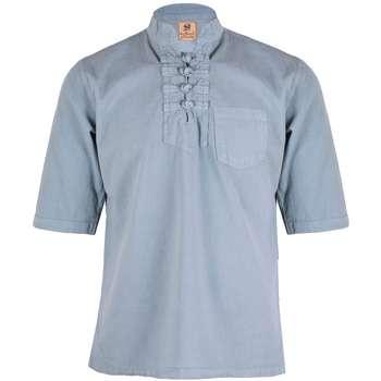 پیراهن مردانه چترفیروزه مدل چهارگره آستین کوتاه کد 9