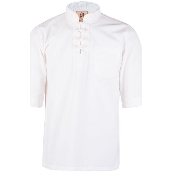 پیراهن مردانه چترفیروزه مدل چهارگره آستین کوتاه کد 1