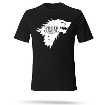 تی شرت مشکی مردانه طرح گرگ
