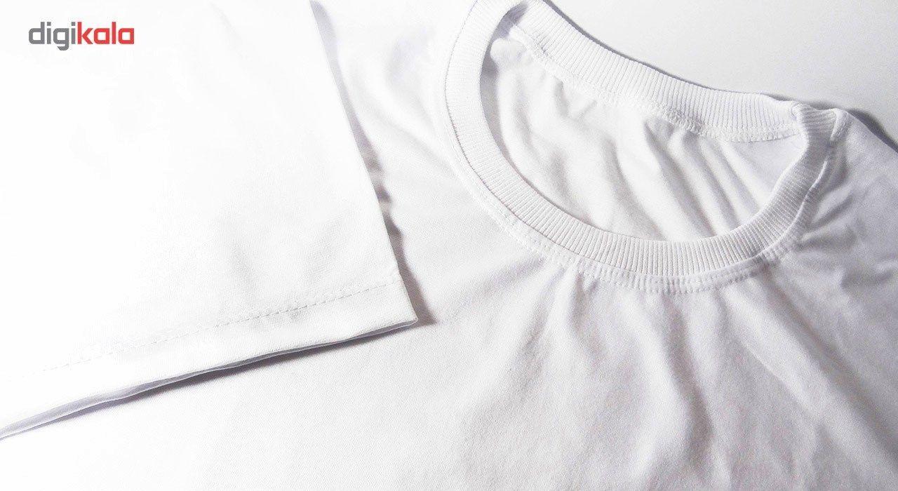 تی شرت سفید  آستین کوتاه نیکو main 1 3