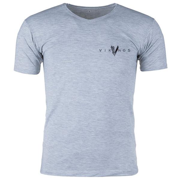 تی شرت ملانژ  مردانه گالری واو طرح Vikings کد CT80217z