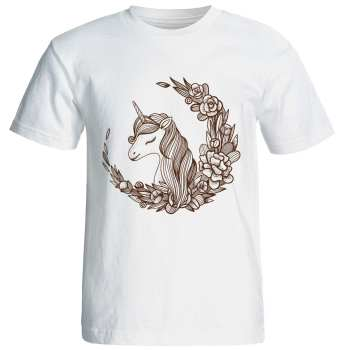 تیشرت  آستین کوتاه  شین دیزاین طرح   اسب تک شاخ  کد 4144