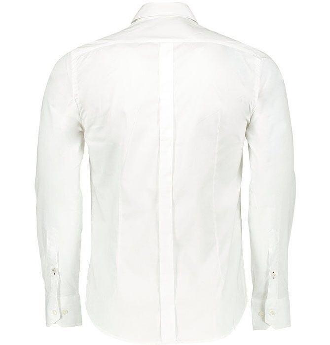 پیراهن آستین بلند سفید مردانه پبونی مدل BW main 1 1