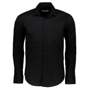 پیراهن آستین بلند مشکی مردانه پبونی  مدل CN