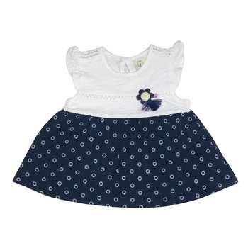پیراهن دخترانه تیتو طرح گل خورشیدی مدل 2221