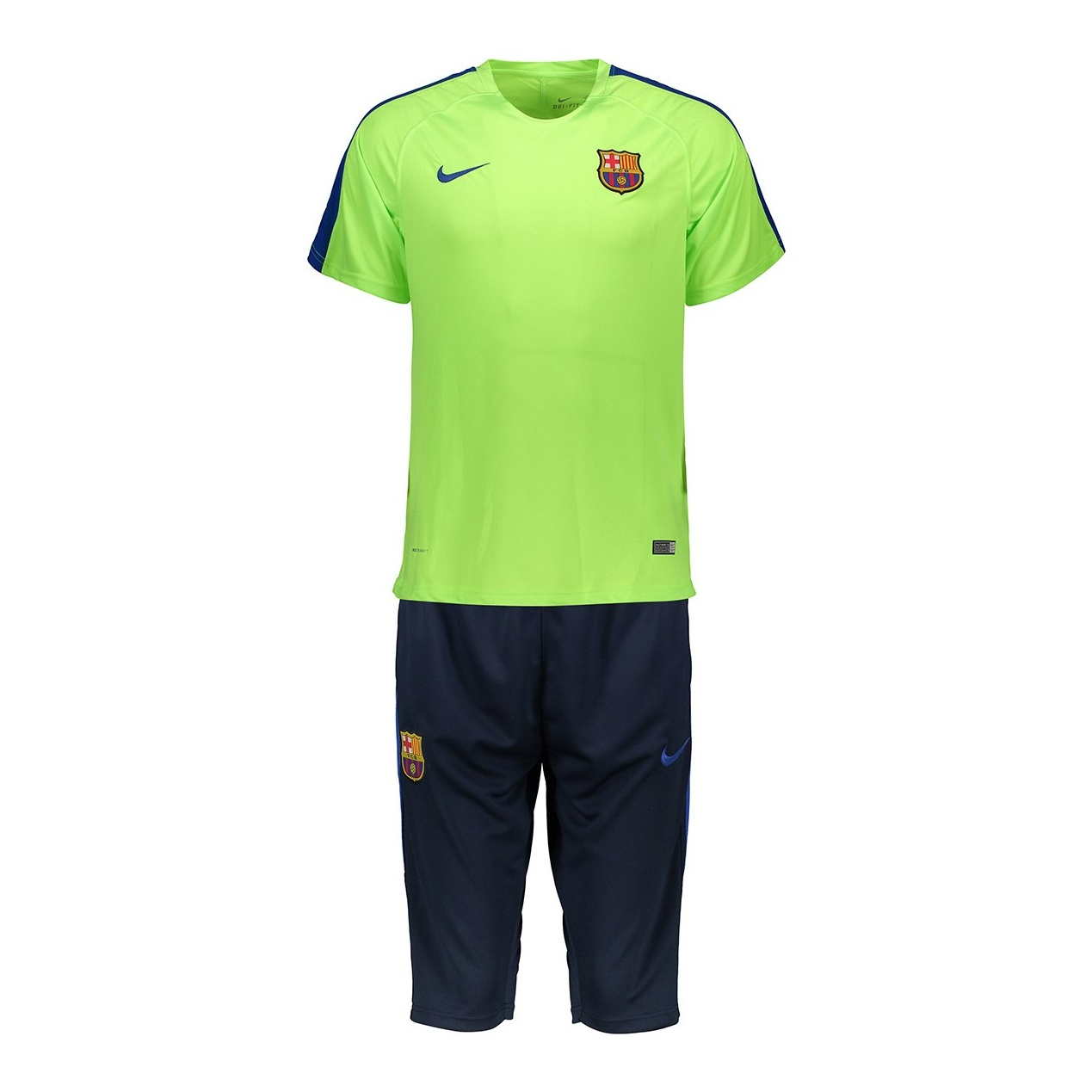 پیراهن و شلوارک ورزشی مدل بارسلونا 2017/18 طرح 2