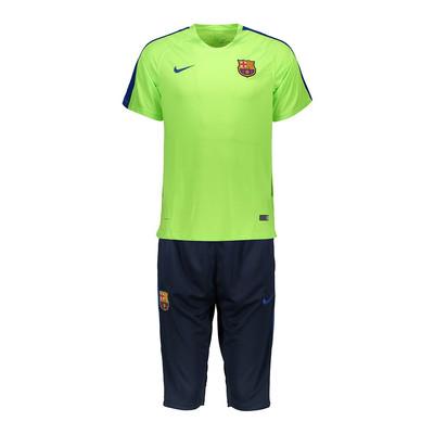 تصویر پیراهن و شلوارک ورزشی مدل بارسلونا 2017/18 طرح 2