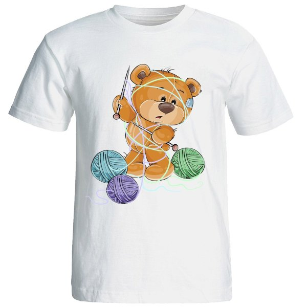 تیشرت  آستین کوتاه  شین دیزاین  طرح   خرس کد 4154