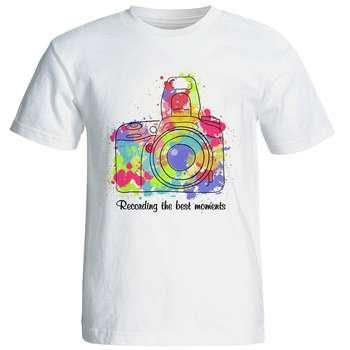 تیشرت  آستین کوتاه  شین دیزاین طرح  دوربین  کد4173