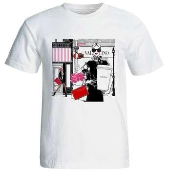 تیشرت آستین کوتاه زنانه شین دیزاین طرح فانتزی کد 4264