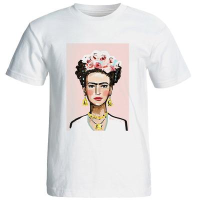 تیشرت  آستین کوتاه زنانه شین دیزاین  طرح فریدا  کد 4221