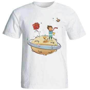 تی شرت آستین کوتاه شین دیزاین طرح شازده کوچولو کد 4266