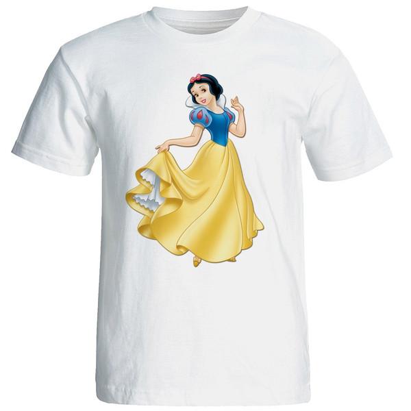 تیشرت  آستین کوتاه  شین دیزاین طرح سفید برفی کد 4389
