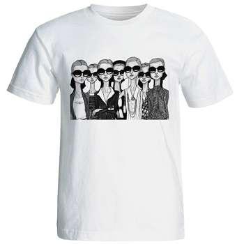 تی شرت آستین کوتاه زنانه شین دیزاین طرح فانتزی کد 4403