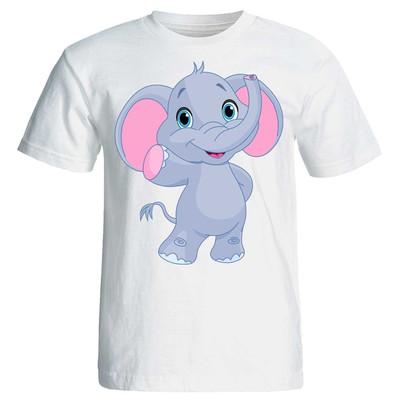 تصویر تی شرت پارس طرح کارتونی فیل کد3570