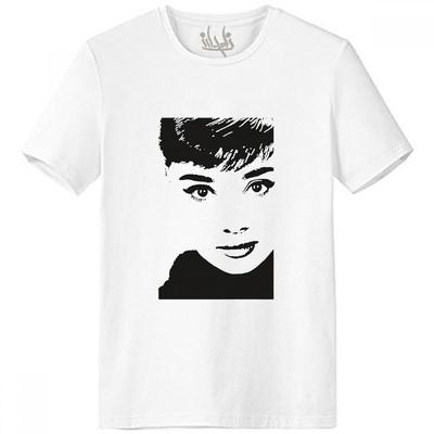 تی شرت زنانه نامدارز مدل Audrey Hepburn