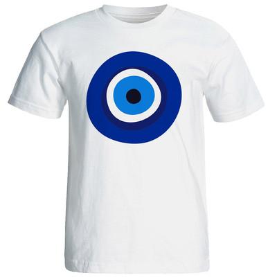 تصویر تی شرت آستین کوتاه شین دیزاین طرح چشم و نظر فانتزی کد4297
