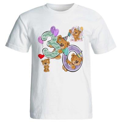 تصویر تی شرت پارس طرح تولد 30 سالگی کد 3530