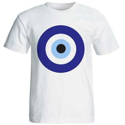 تی شرت آستین کوتاه شین دیزاین طرح چشم و نظر کد ۴۲۶۲
