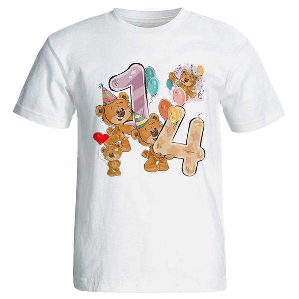 تی شرت پارس طرح تولد 14 سالگی کد 3514