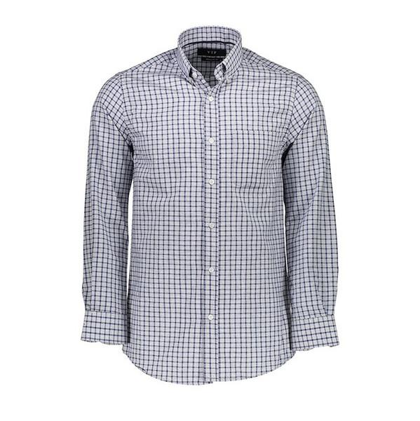 پیراهن مردانه ناوالس طرح چهارخانه مدلVIP-N-SQ-BL