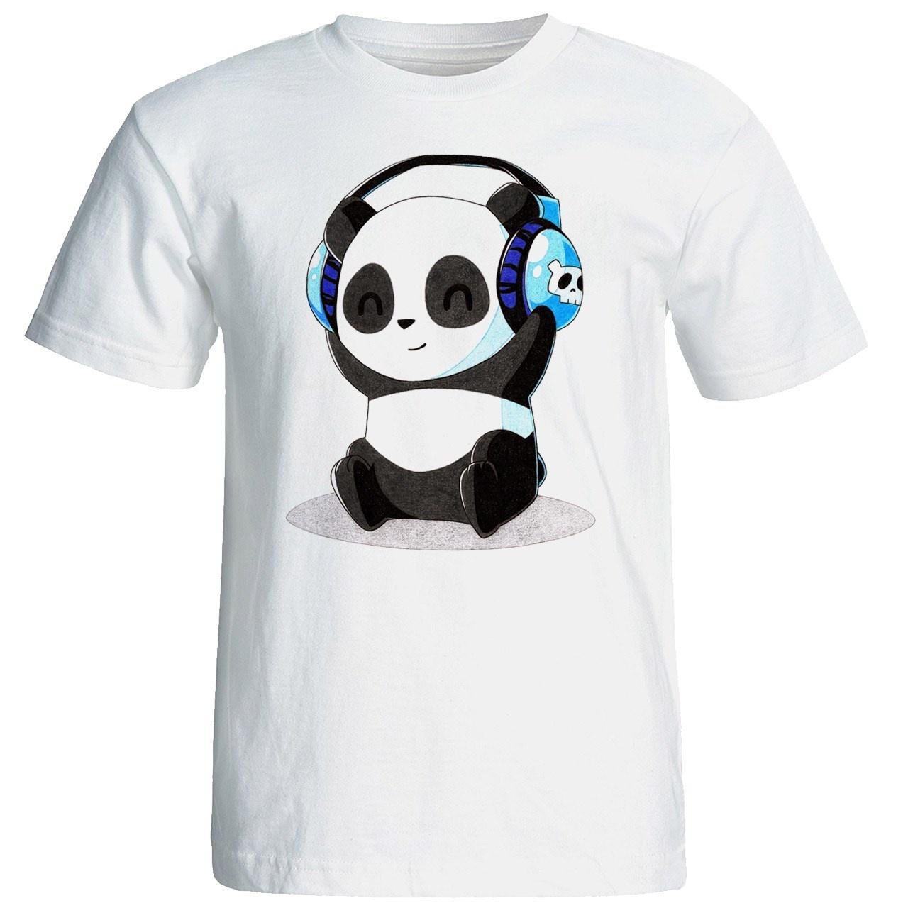 تی شرت آستین کوتاه مردانه شین دیزاین طرح پاندا کد 4400