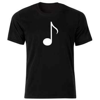 تیشرت آستین کوتاه مردانه بلک اند وایت طرح نت موسیقی کد BW5541