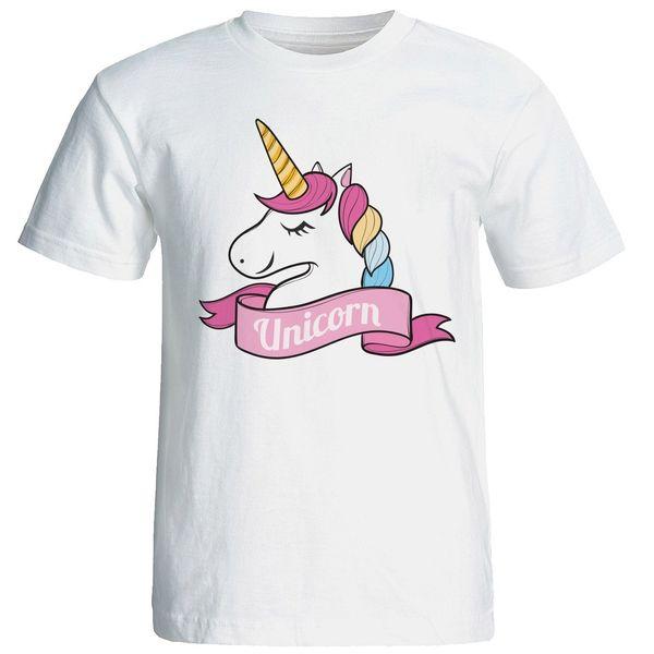 تی شرت آستین کوتاه زنانه شین دیزاین طرح یونیکورن کد 4422