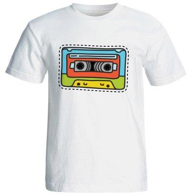 تصویر تی شرت آستین کوتاه زنانه شین دیزاین طرح نوار کاست کد 4428