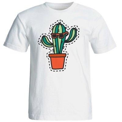 تی شرت آستین کوتاه زنانه شین دیزاین طرح کاکتوس کد 4429