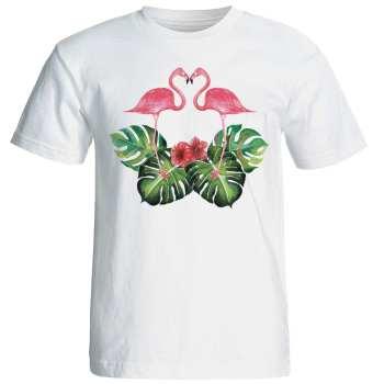 تی شرت زنانه طرح فلامینگو کد 4432