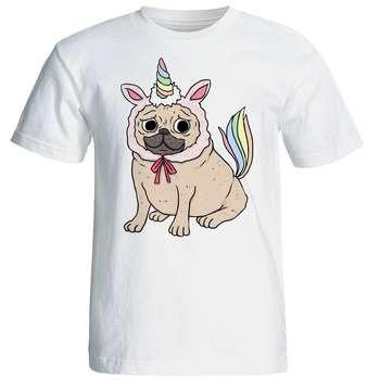 تی شرت آستین کوتاه زنانه شین دیزاین طرح سگ کد 4437