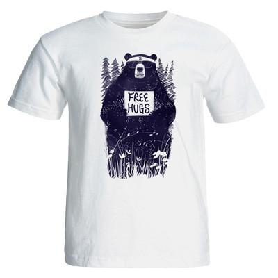 تی شرت طرح فانتزی خرس جنگل کد ۳۰۲۴
