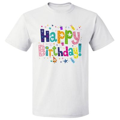 تصویر تی شرت مارس طرح Happy birthday کد 3596