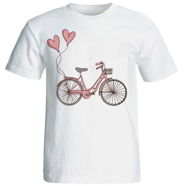 تی شرت آستین کوتاه زنانه شین دیزاین طرح دوچرخه کد 4457