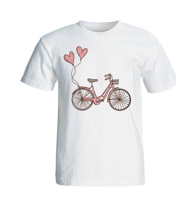 تی شرت آستین کوتاه زنانه شین دیزاین طرح دوچرخه کد 4457 main 1 1