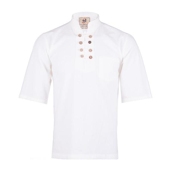 پیراهن مردانه چترفیروزه مدل هشت دکمه آستین کوتاه کد 1