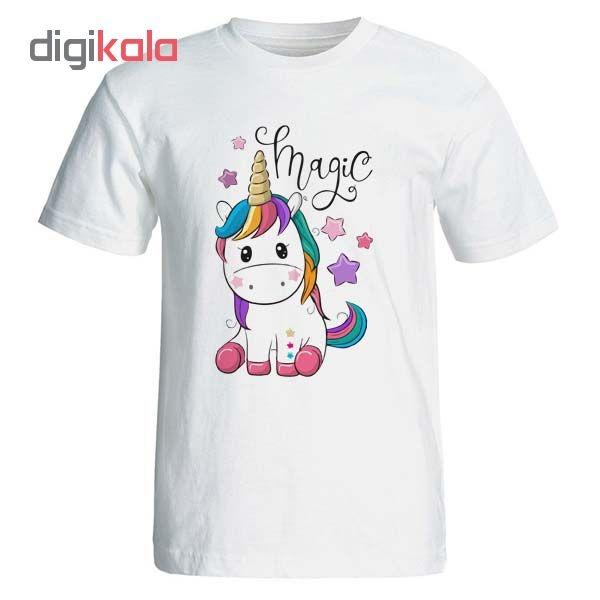 تیشرت زنانه طرح اسب تک شاخ magic unicorn یونیکورن کد 3638
