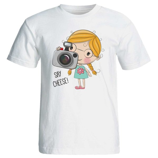 تی شرت زنانه پارس طرح کارتونی کد 3703