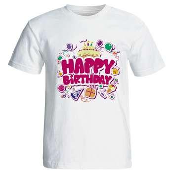 تیشرت مردانه طرح کیک تولد کد 7091