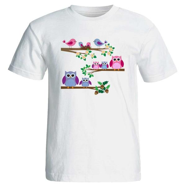 تی شرت زنانه پارس طرح کارتونی کد 3728