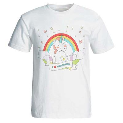 تصویر تیشرت زنانه طرح اسب تک شاخ unicorn کد 3726