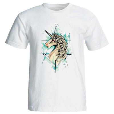 تی شرت زنانه پارس طرح کارتونی اسب تک شاخ کد 3737
