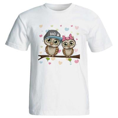 تصویر تی شرت زنانه پارس طرح کارتونی کد 3734