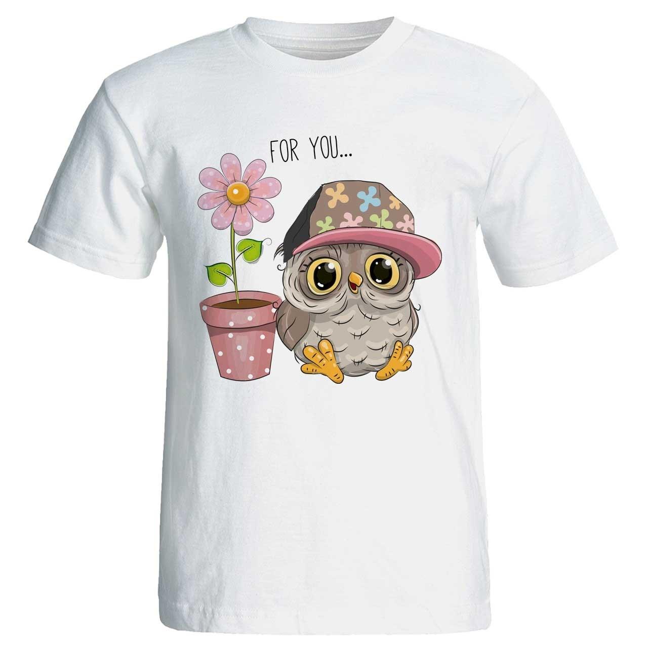 تی شرت زنانه پارس طرح کارتونی کد 3739