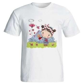تی شرت زنانه پارس طرح کارتونی کد 3748